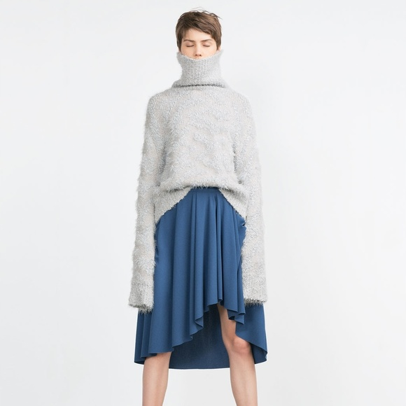Zara Dresses & Skirts - Gathered High-Low Skirt (NWT)